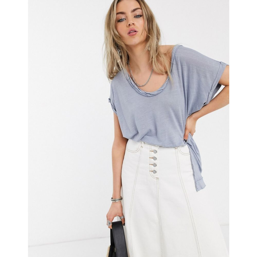 フリーピープル Free People レディース Tシャツ トップス【under the sun tee in denim blue】Denim blue