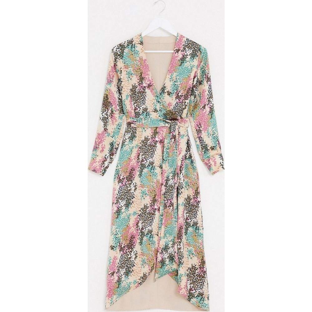 スタイルチート Style Cheat レディース ワンピース ワンピース・ドレス【reversible tie side maxi dress in contrast summer floral print】Multi