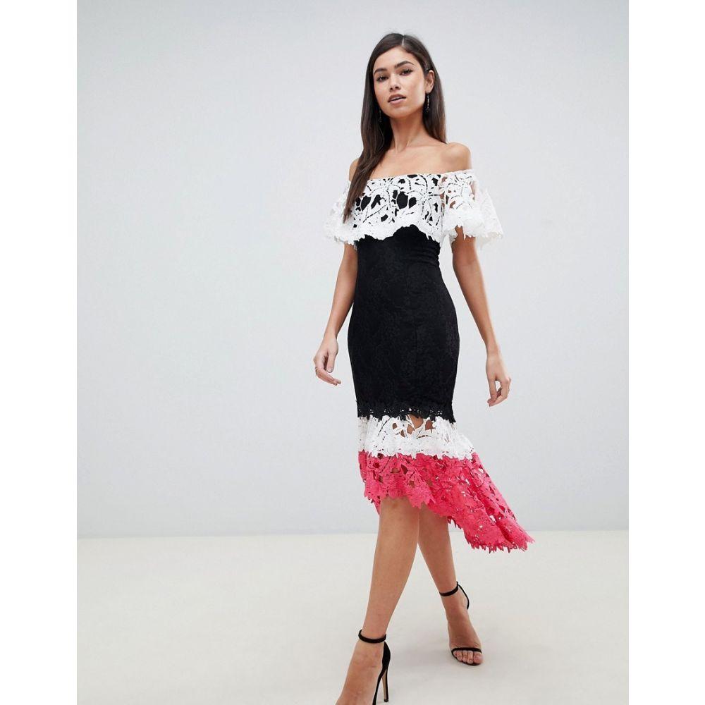 フォーエバーユニーク Forever Unique レディース ワンピース ティアードドレス ワンピース・ドレス【bardot tiered midi dress】Multi