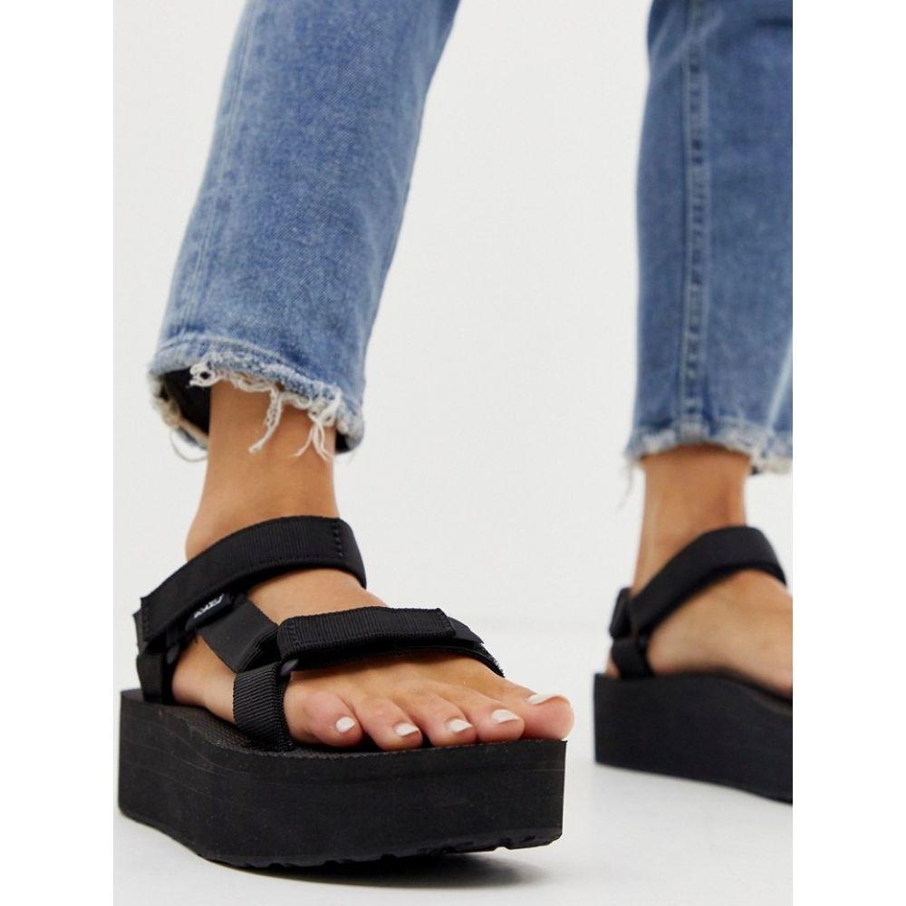 テバ Teva レディース サンダル・ミュール チャンキーヒール シューズ・靴【flatform universal chunky sandals in black】Black