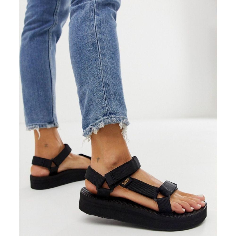 テバ Teva レディース サンダル・ミュール チャンキーヒール シューズ・靴【midform universal chunky sandals in black】Black