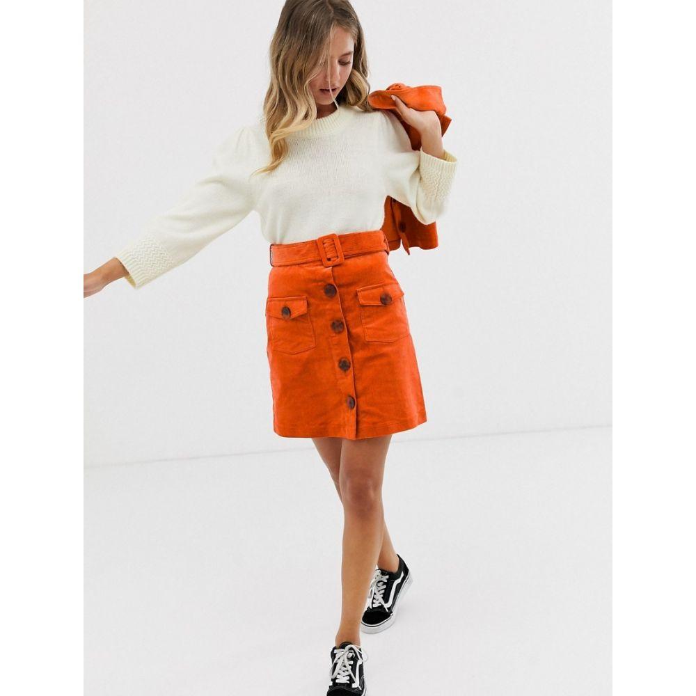 イーストオーダー The East Order レディース スカート 【Danijo corduroy skirt co-ord】Orange