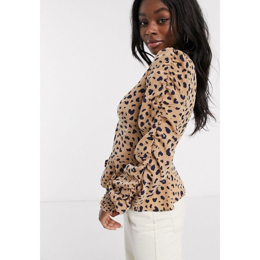 イーストオーダー The East Order レディース ブラウス・シャツ トップス【Scarlett leopard print blouse】Animal polka