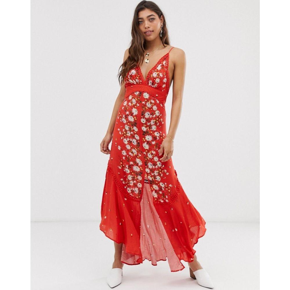 フリーピープル Free People レディース ワンピース マキシ丈 ワンピース・ドレス【Paradise maxi dress in red】Red