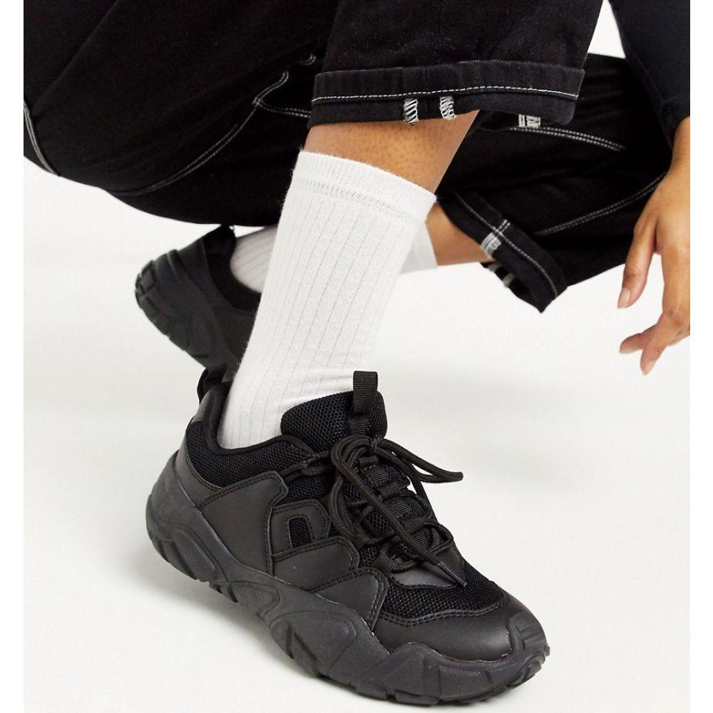 トリュフコレクション Truffle Collection レディース スニーカー チャンキーヒール シューズ・靴【chunky sole trainers in black】Black