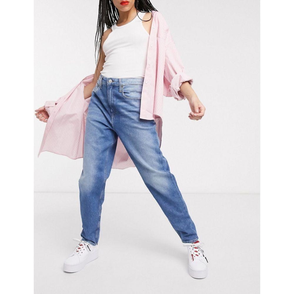 トミー ジーンズ Tommy Jeans レディース ジーンズ・デニム ボトムス・パンツ【tapered mom jeans in mid wash blue】Audrey mid
