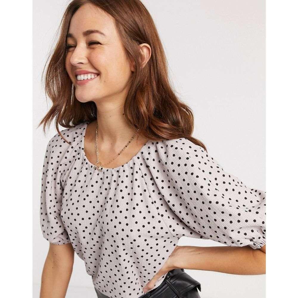 ワイ エー エス Y.A.S レディース ブラウス・シャツ トップス【puff sleeve blouse in spot print】Multi