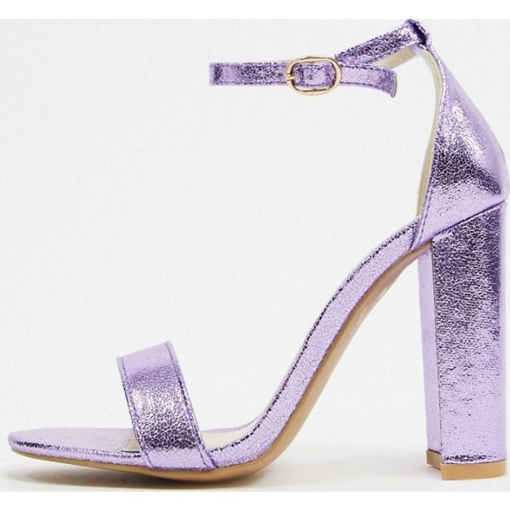 グラマラス Glamorous レディース ヒール シューズ・靴【barely there block heels in lilac】Lilac