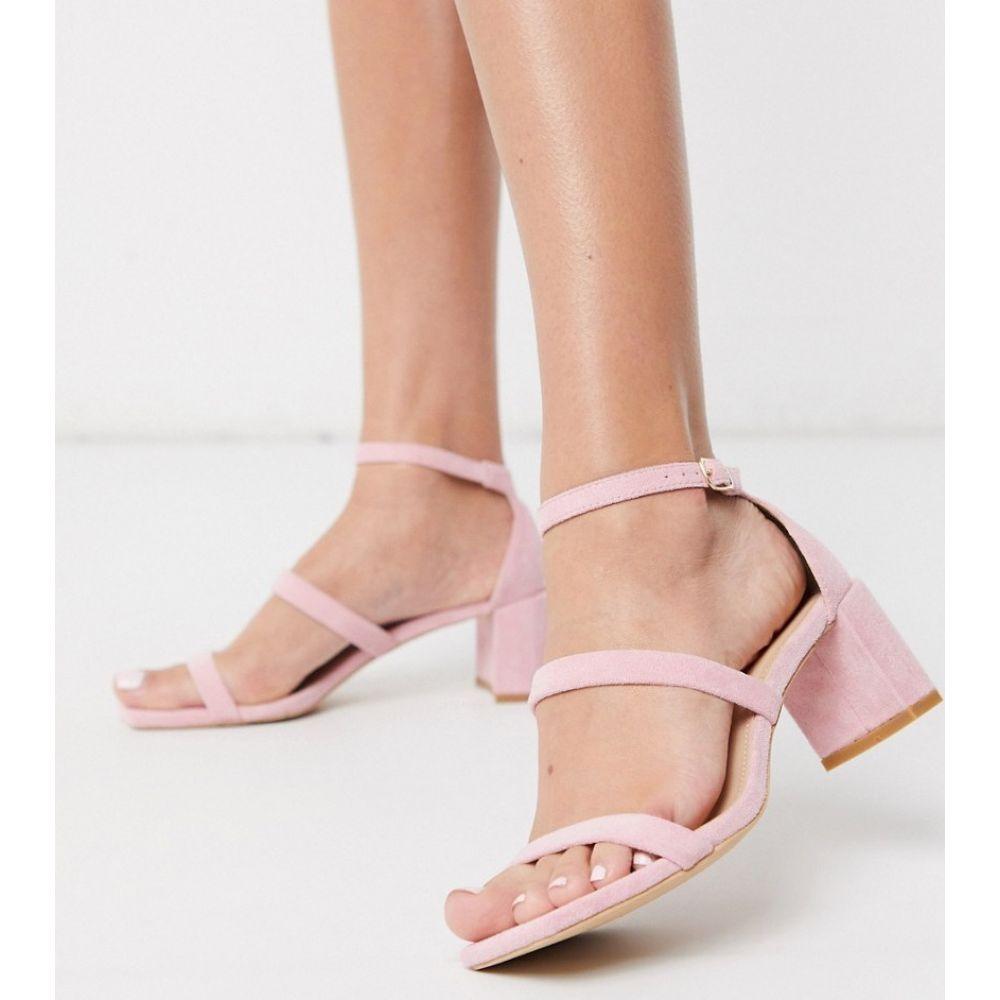 グラマラス Glamorous レディース サンダル・ミュール シューズ・靴【block heeled sandal in pale pink】Pink