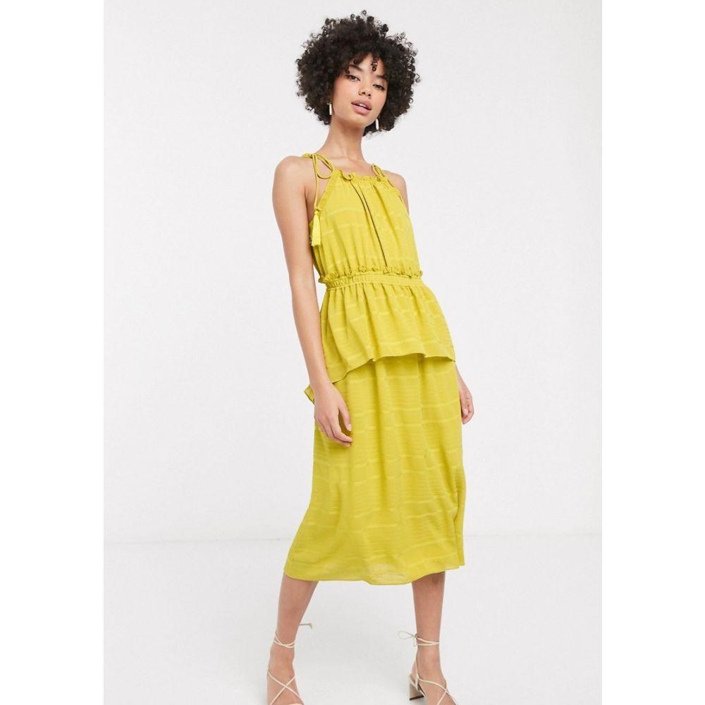 ホイッスルズ Whistles レディース ワンピース ノースリーブ ワンピース・ドレス【textured check sleeveless dress】Yellow
