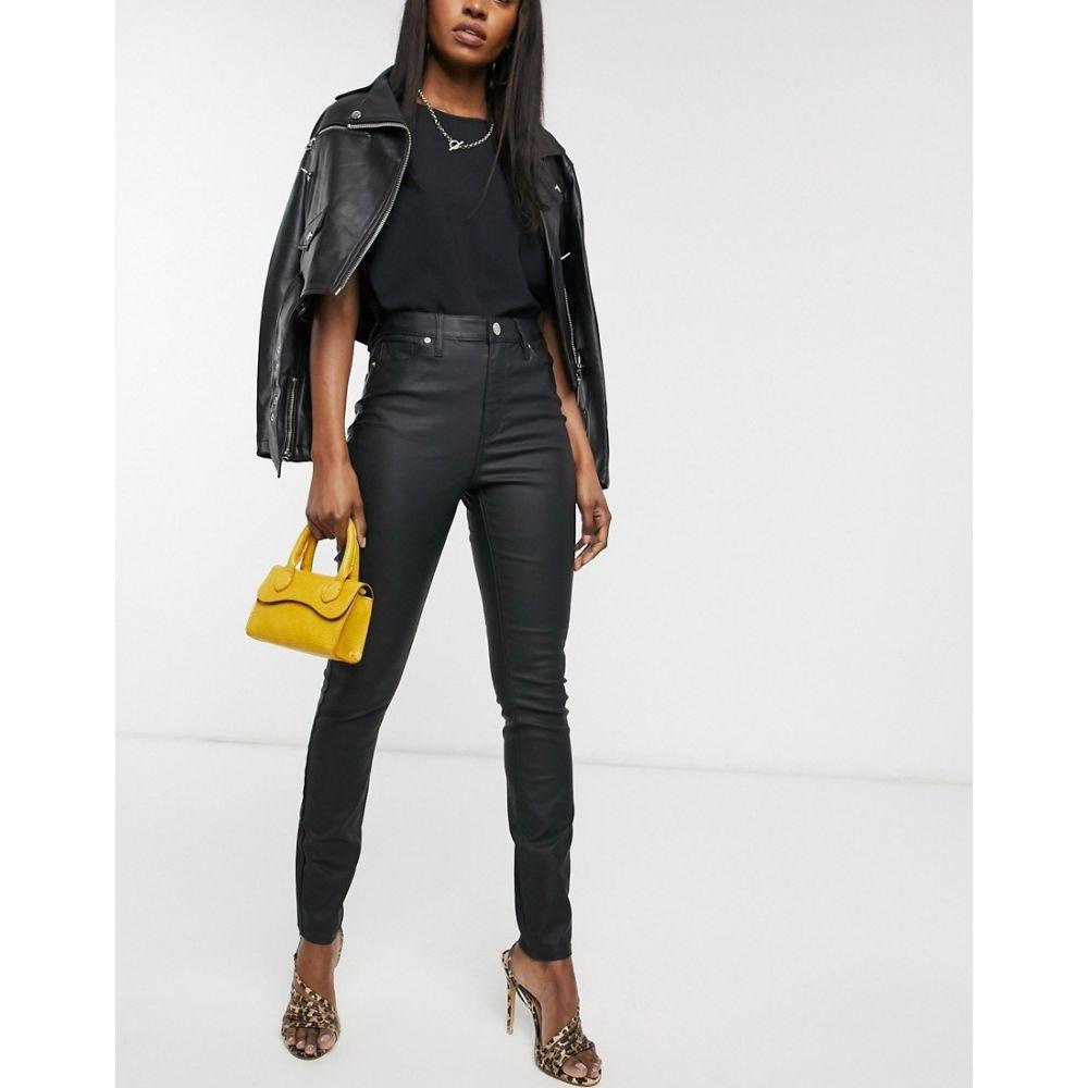 ウェアハウス Warehouse レディース ジーンズ・デニム ボトムス・パンツ【waxed coated skinny jeans in black】Black