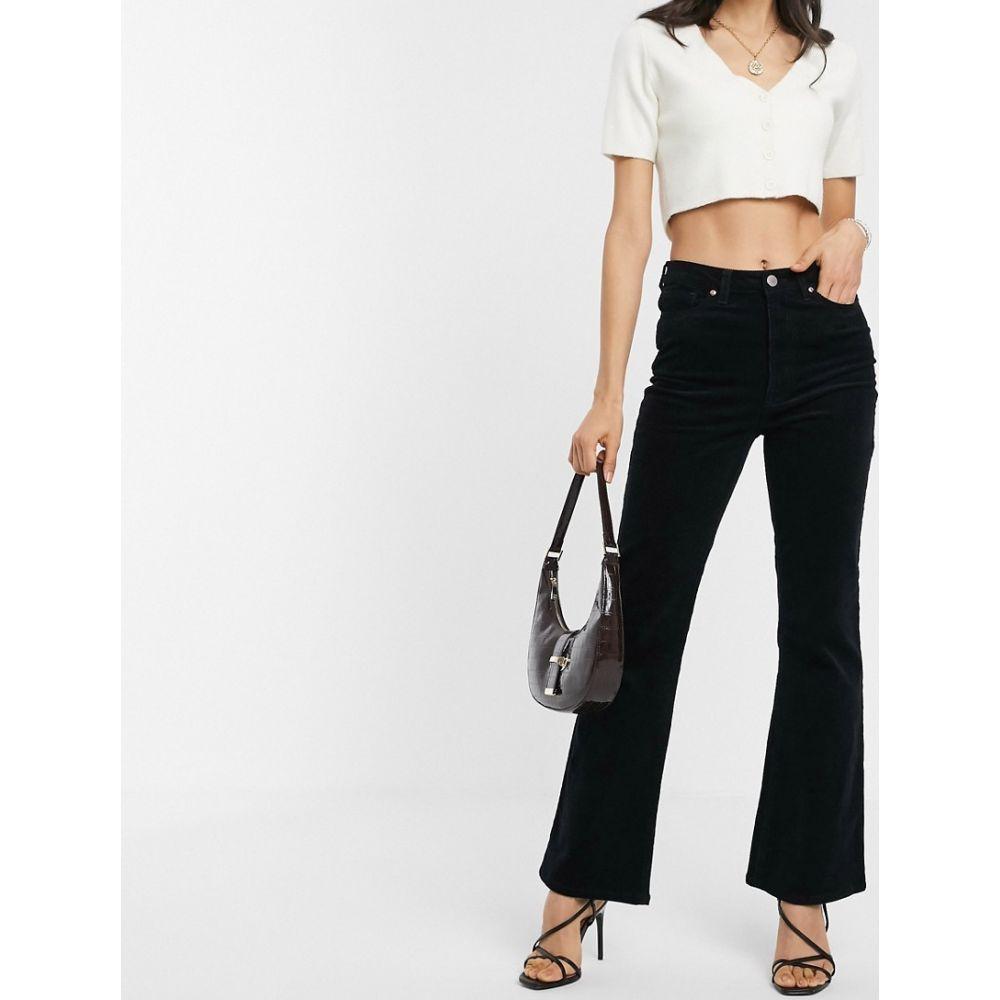 ウェアハウス Warehouse レディース ジーンズ・デニム ボトムス・パンツ【corduroy flared trousers in black】Black