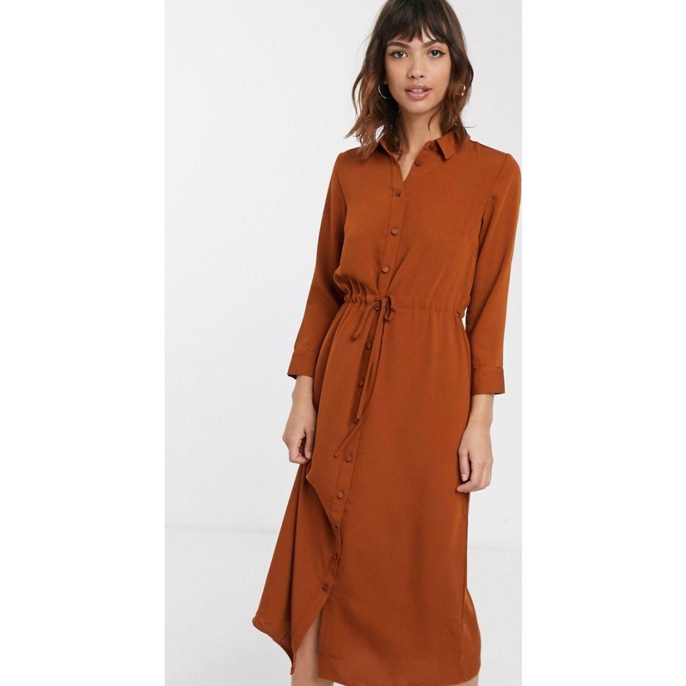 ウェアハウス Warehouse レディース ワンピース シャツワンピース ワンピース・ドレス【midi utility shirt dress in rust】Rust