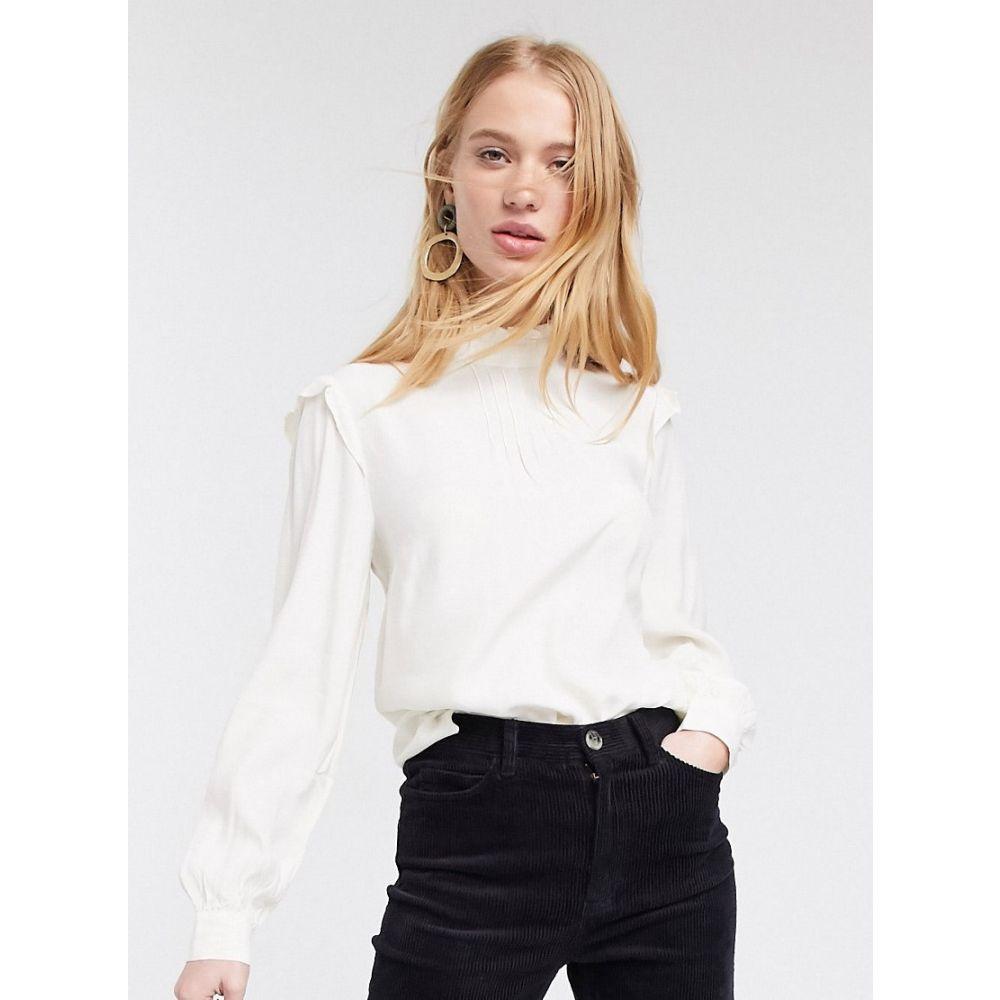 ウェアハウス Warehouse レディース ブラウス・シャツ トップス【blouse with frills in ivory】Ivory