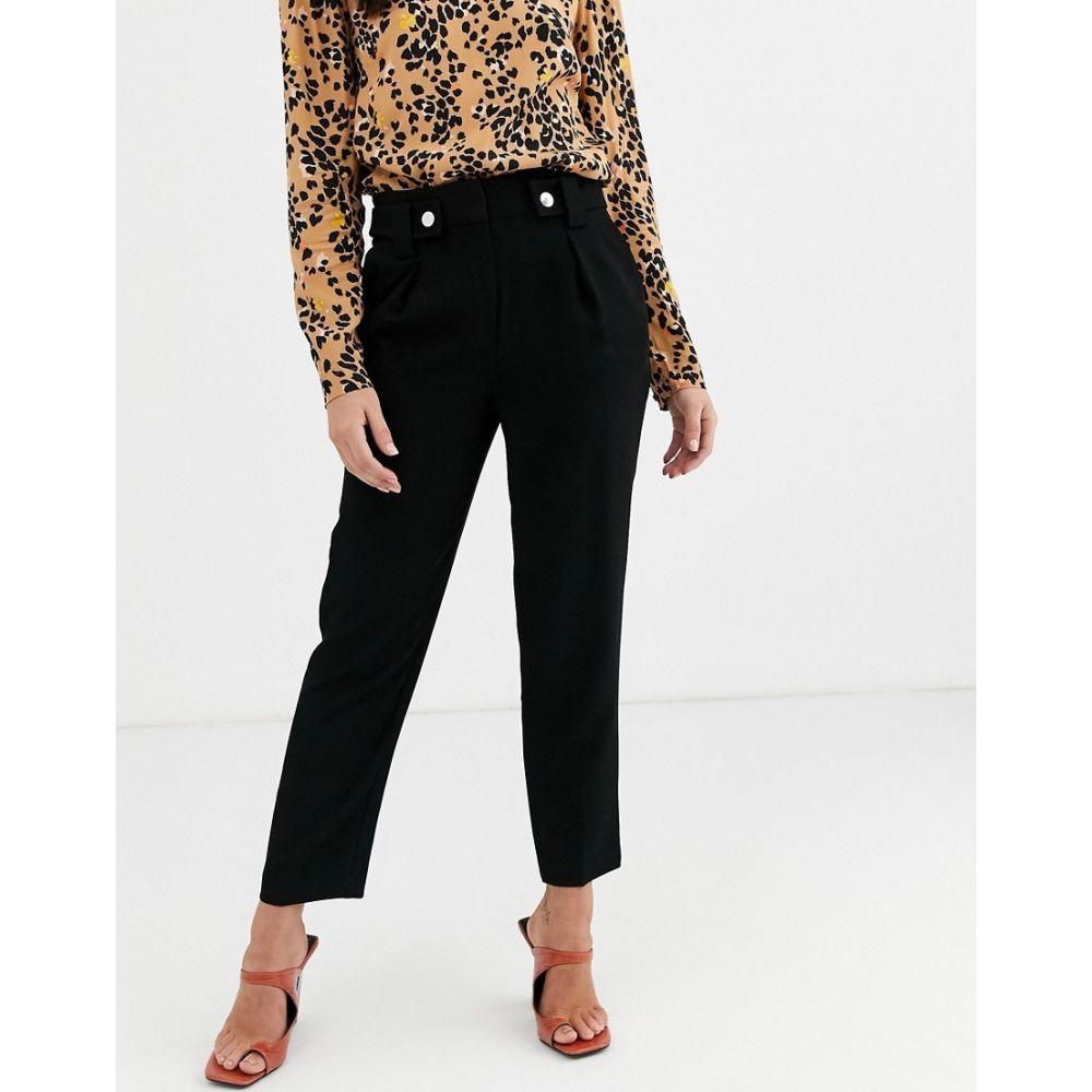 ウェアハウス Warehouse レディース ボトムス・パンツ 【tapered trousers with belt in black】Black