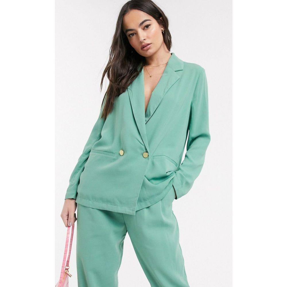 イチ Ichi レディース スーツ・ジャケット アウター【pastel suit blazer】Malachite green