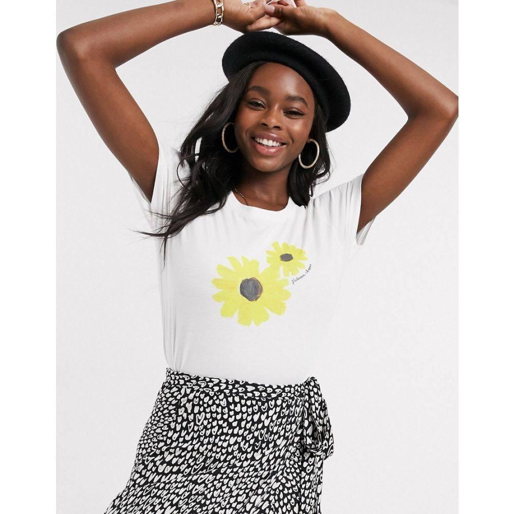 ファビエンヌ シャポット Fabienne Chapot レディース Tシャツ トップス【exclusive joanne sunflower t-shirt in off white】Off white