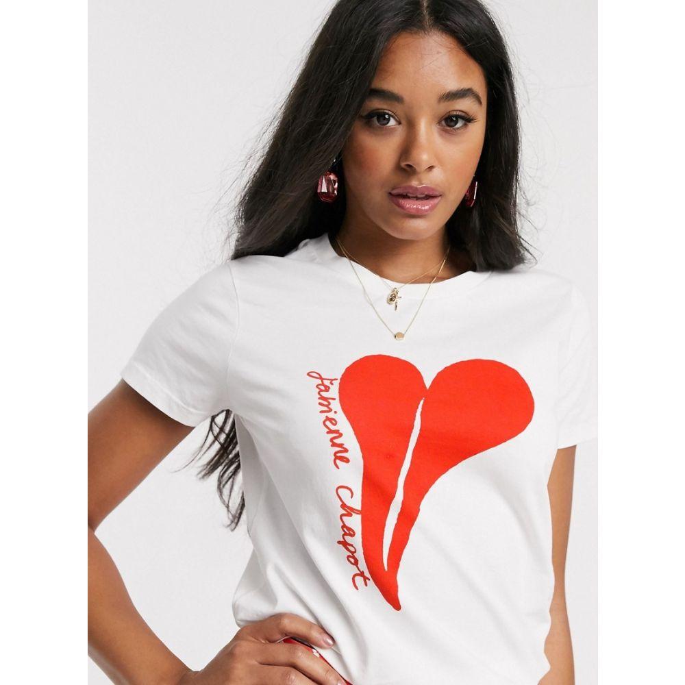 ファビエンヌ シャポット Fabienne Chapot レディース Tシャツ トップス【joanne heart t-shirt in off white】Off white