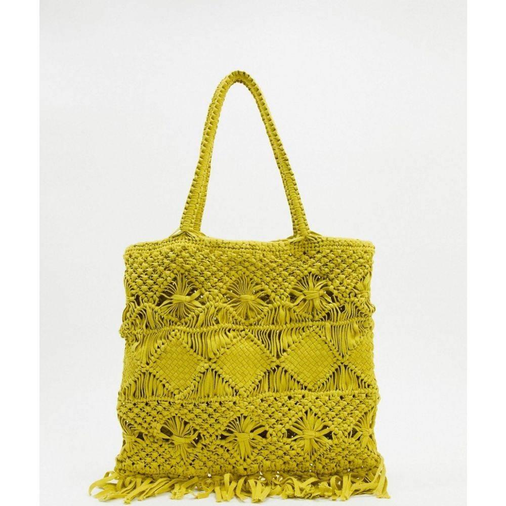 ホイッスルズ Whistles レディース トートバッグ バッグ【crochet tote bag in olive】Olive