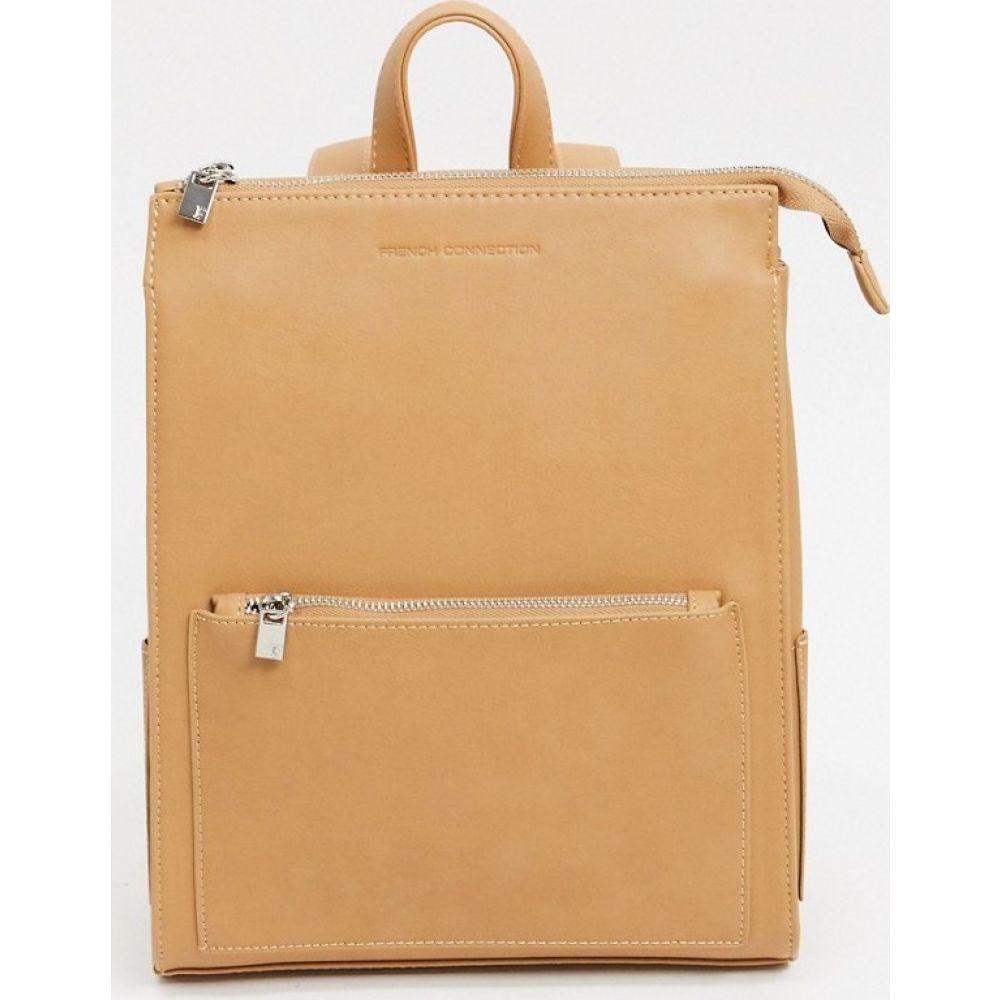 フレンチコネクション French Connection レディース バックパック・リュック バッグ【Leather Oversized Zip Backpack】Stone pu