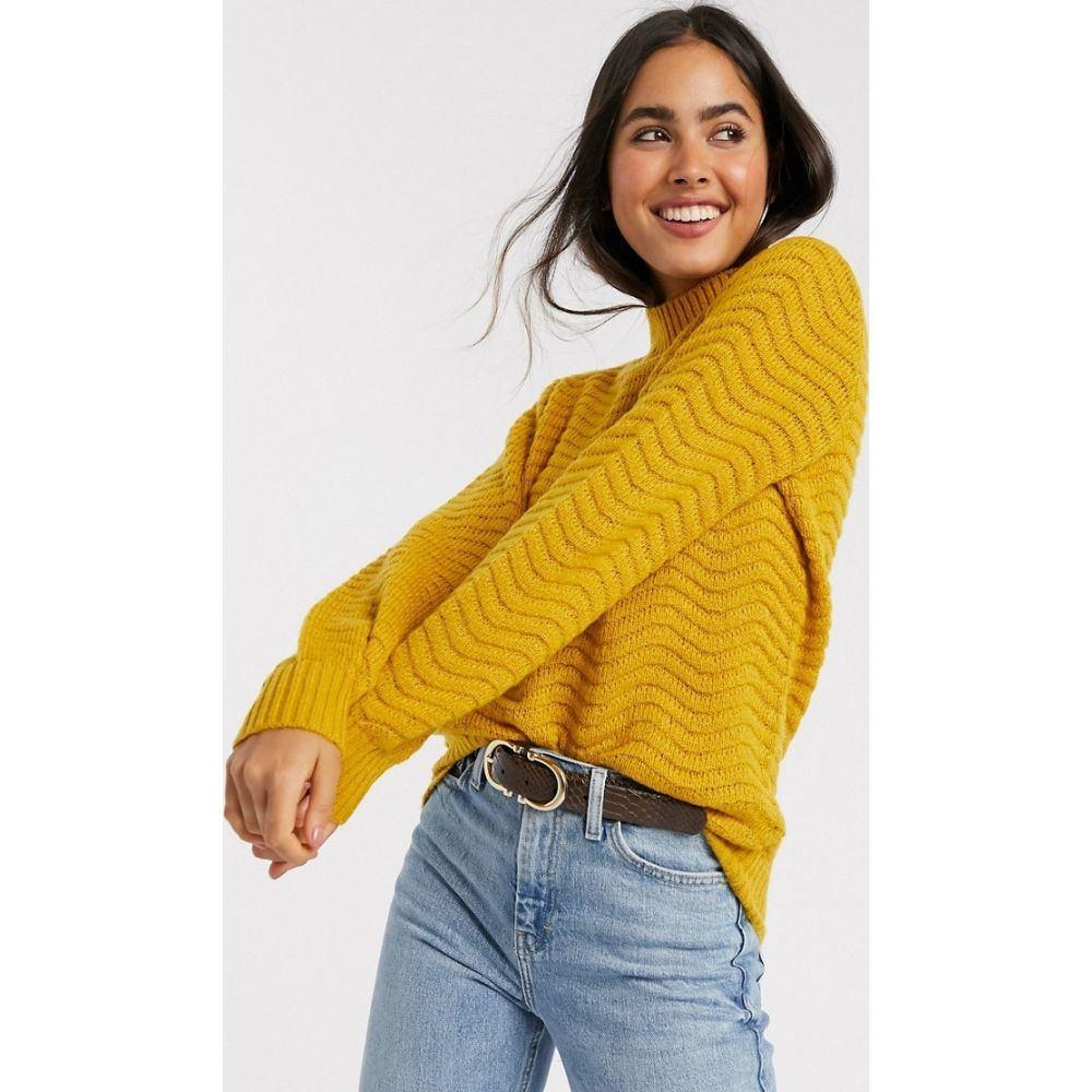 ワイ エー エス Y.A.S レディース ニット・セーター トップス【Brentrice knit jumper in yellow】Golden yellow