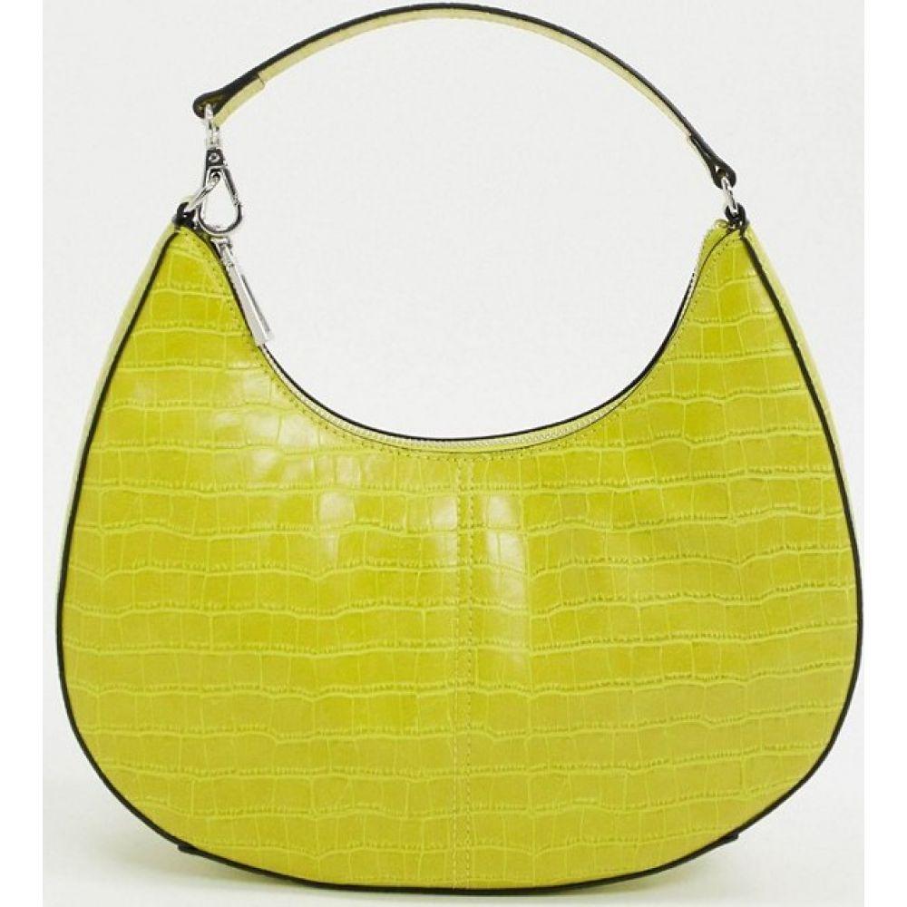 フー ワット ウェアー Who What Wear レディース ショルダーバッグ バッグ【Seeley 90s shoulder bag in lime croc】Limeade croco