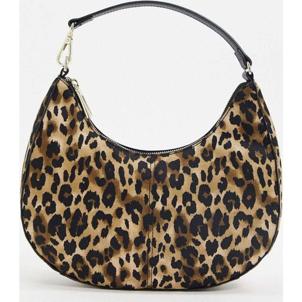 フー ワット ウェアー Who What Wear レディース ショルダーバッグ バッグ【Seeley 90s shoulder bag in leopard】Leopard