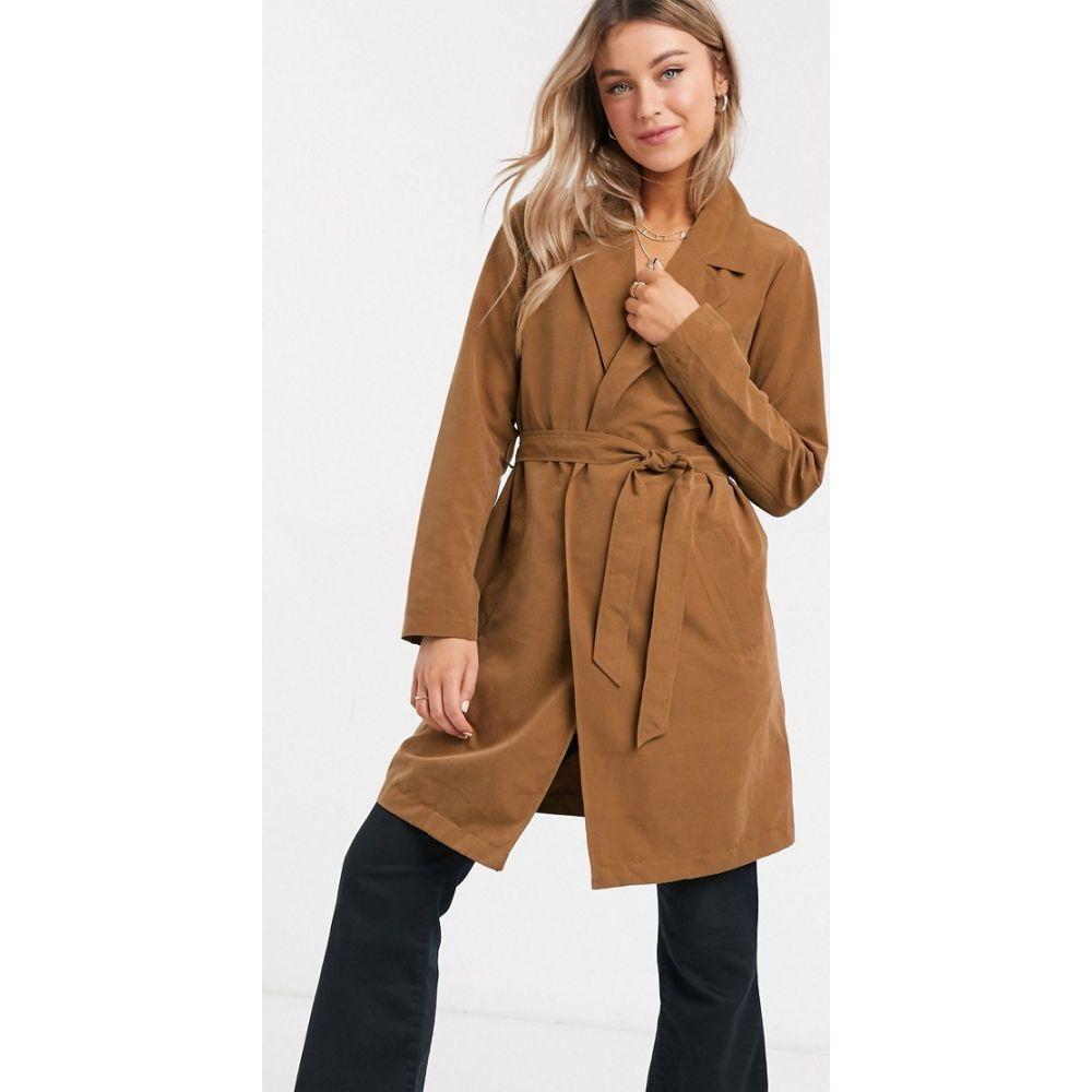ジェイディーワイ JDY レディース トレンチコート ラップコート アウター【wrap trench coat in brown】Dachshund
