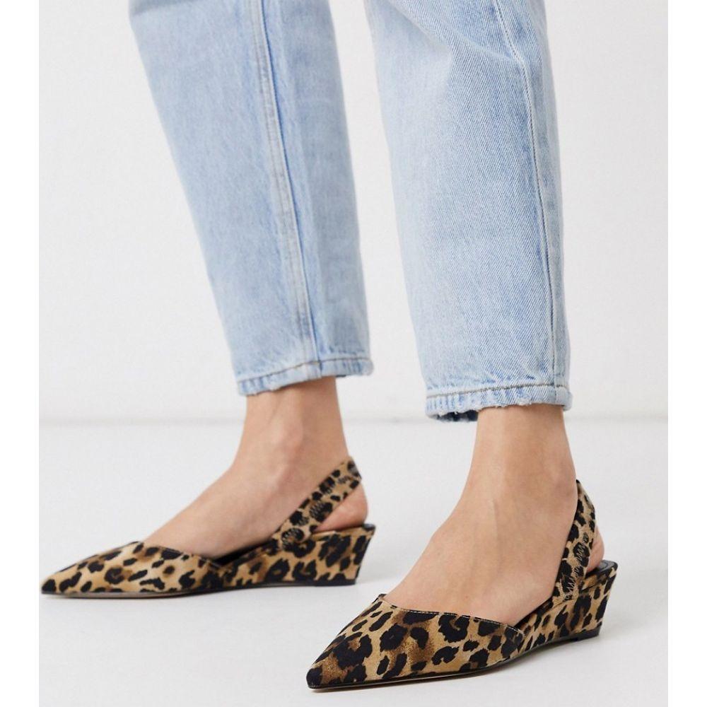 フー ワット ウェアー Who What Wear レディース シューズ・靴 ウェッジソール【Marsella single wedge shoes in leopard】Leopard