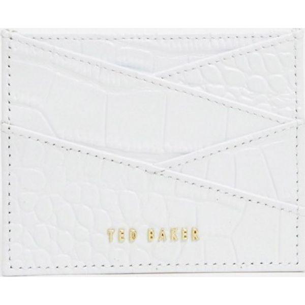 テッドベーカー Ted Baker レディース カードケース・名刺入れ カードホルダー【pairlee exotic effect diagonal card holder in ivory】Ivory
