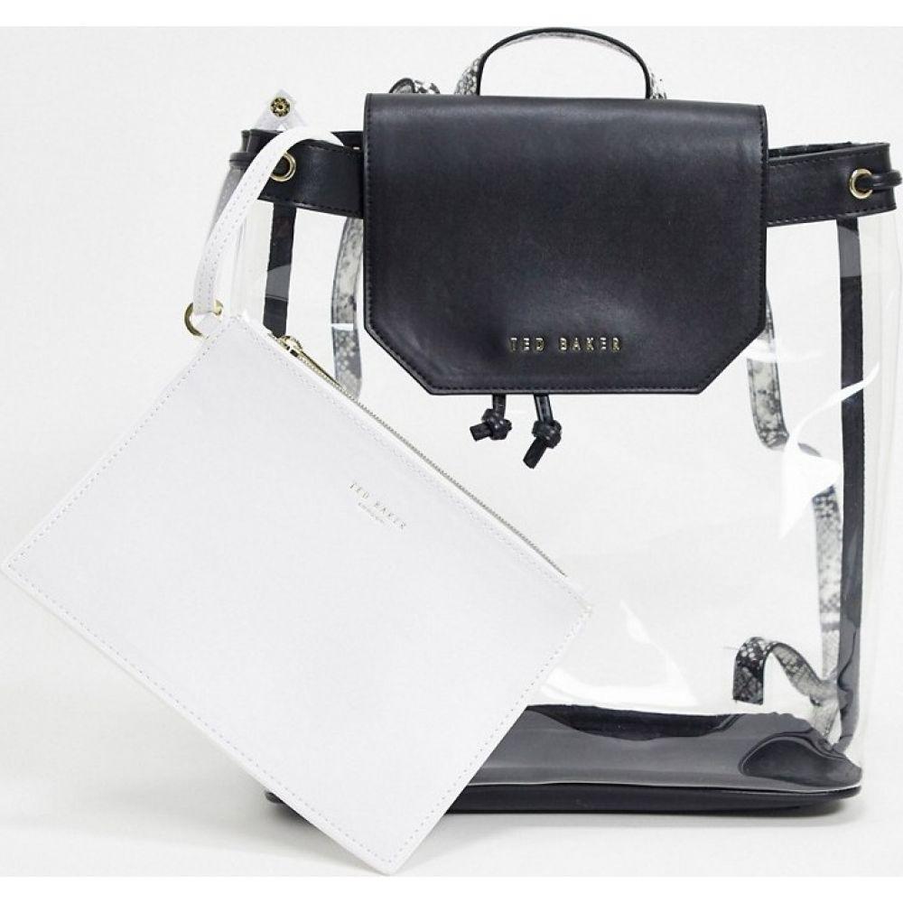 テッドベーカー Ted Baker レディース バックパック・リュック バッグ【maribel transparent backpack with pouch in black】Black