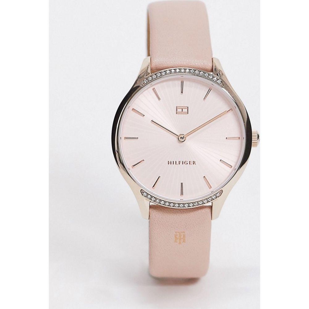 トミー ヒルフィガー Tommy Hilfiger レディース 腕時計 【sunray pink leather watch 1782215】Pink