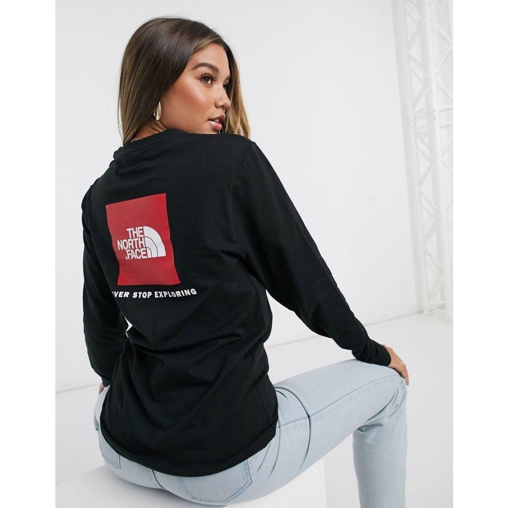 ザ ノースフェイス The North Face レディース 長袖Tシャツ トップス【Red Box long sleeve t-shirt in black】Tnf black