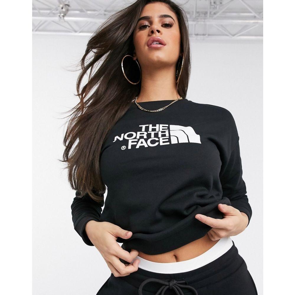 ザ ノースフェイス The North Face レディース スウェット・トレーナー トップス【Drew Peak crew neck sweatshirt in black】Tnf black
