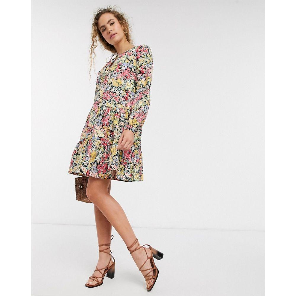 ウェアハウス Warehouse レディース ワンピース ワンピース・ドレス【button through floral print midi dress in multi】Multi