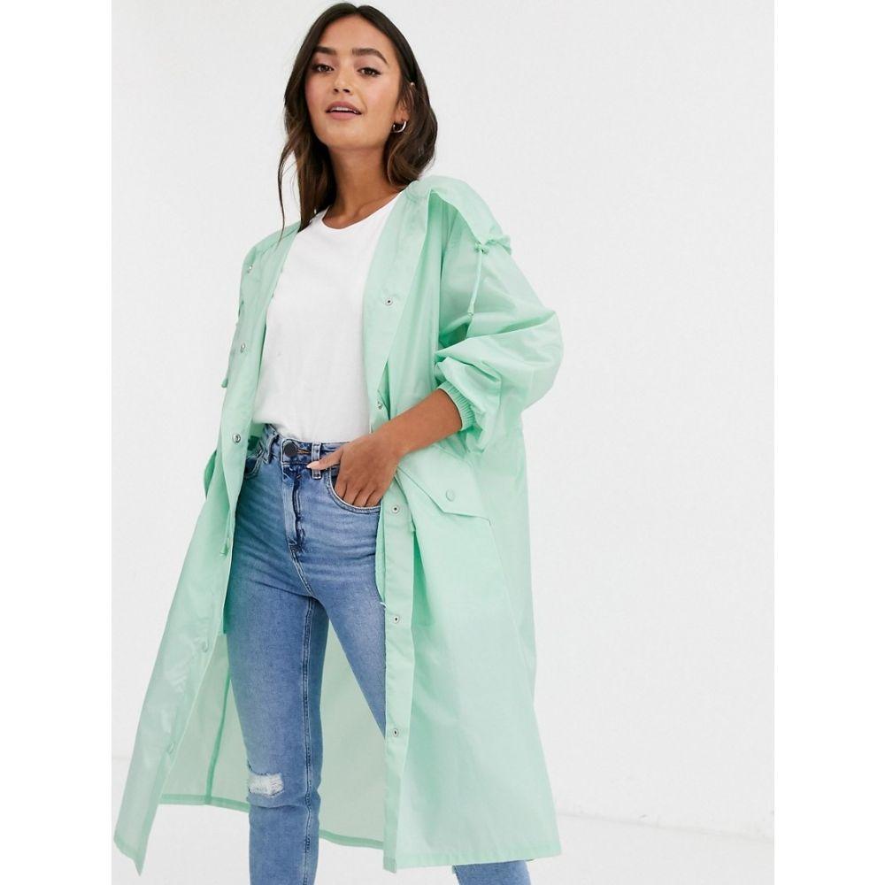 エイソス ASOS DESIGN レディース ジャケット フード アウター【lightweight hooded jacket in mint】Mint
