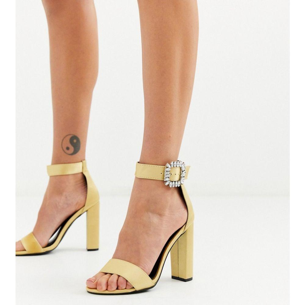 グラマラス Glamorous レディース サンダル・ミュール シューズ・靴【metallic heels with diamante buckle】Gold