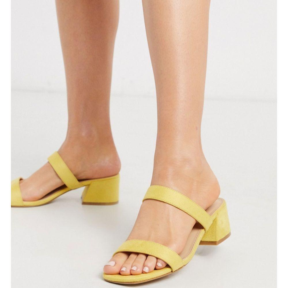 グラマラス Glamorous レディース サンダル・ミュール シューズ・靴【block heeled mule in pale yellow】Yellow mf