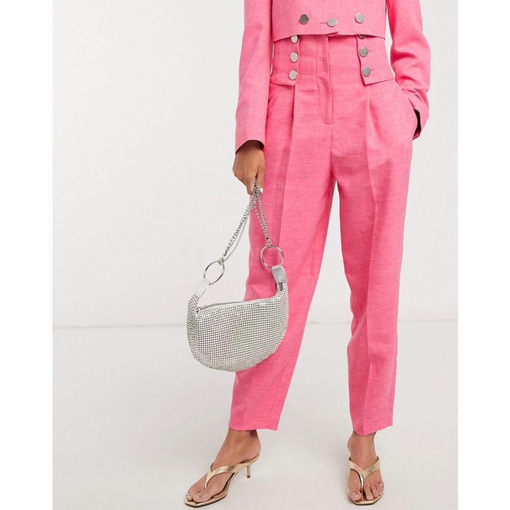 トップショップ Topshop レディース ボトムス・パンツ 【IDOL button detail trousers co-ord in pink】Pink