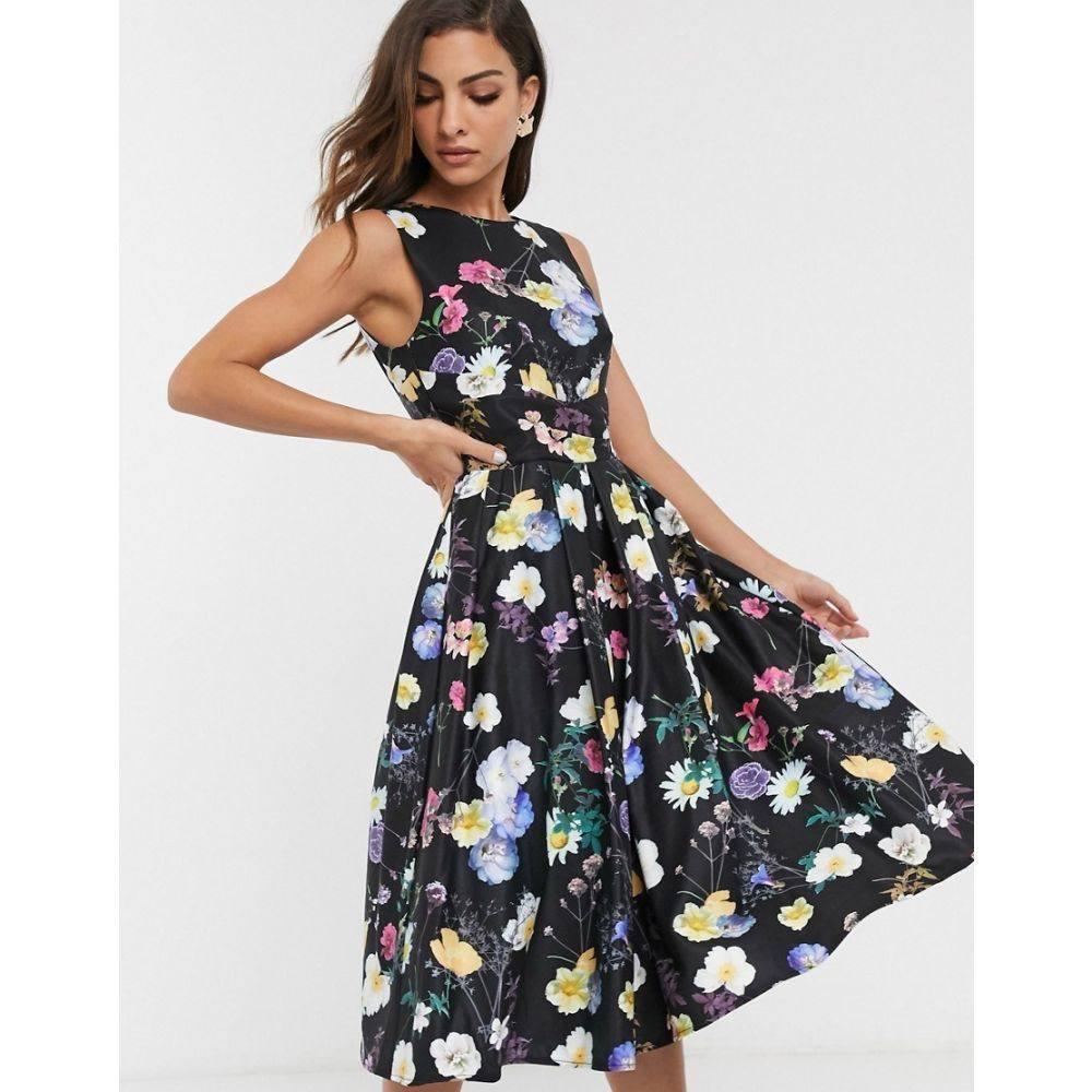 リトル ミストレス Little Mistress レディース ワンピース スケータードレス ワンピース・ドレス【floral print skater dress】Multi