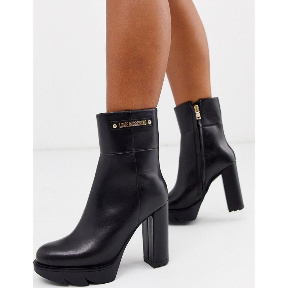 モスキーノ Love Moschino レディース ブーツ シューズ・靴【high platform boots】Black