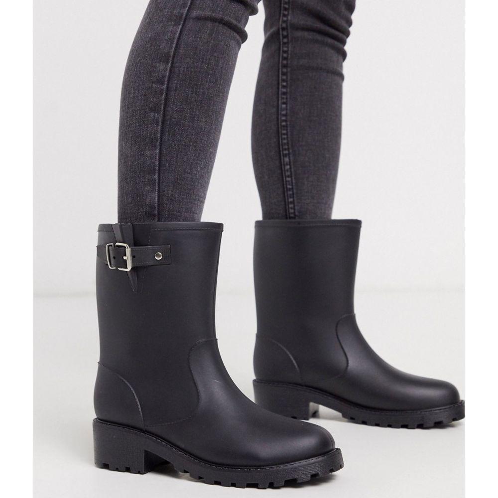 ロンドン レーベル London Rebel レディース ブーツ シューズ・靴【biker welly boots】Black