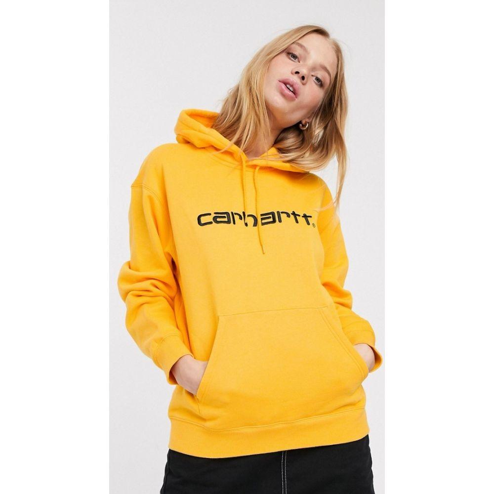 カーハート Carhartt WIP レディース パーカー トップス【oversized hoodie with embroidered logo】Orange