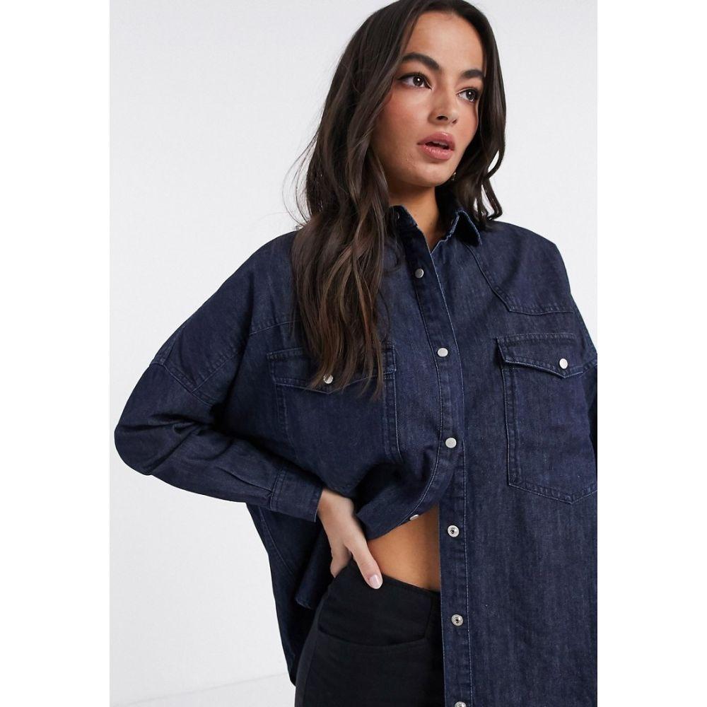 フレンチコネクション French Connection レディース ブラウス・シャツ ウエスタンシャツ トップス【Marbilla Western shirt in blue】Raw blue