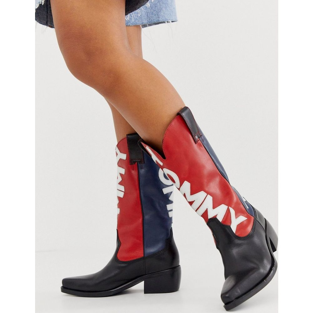 トミー ジーンズ Tommy Jeans レディース ブーツ カウボーイブーツ シューズ・靴【heritage cowboy boots】Midnight