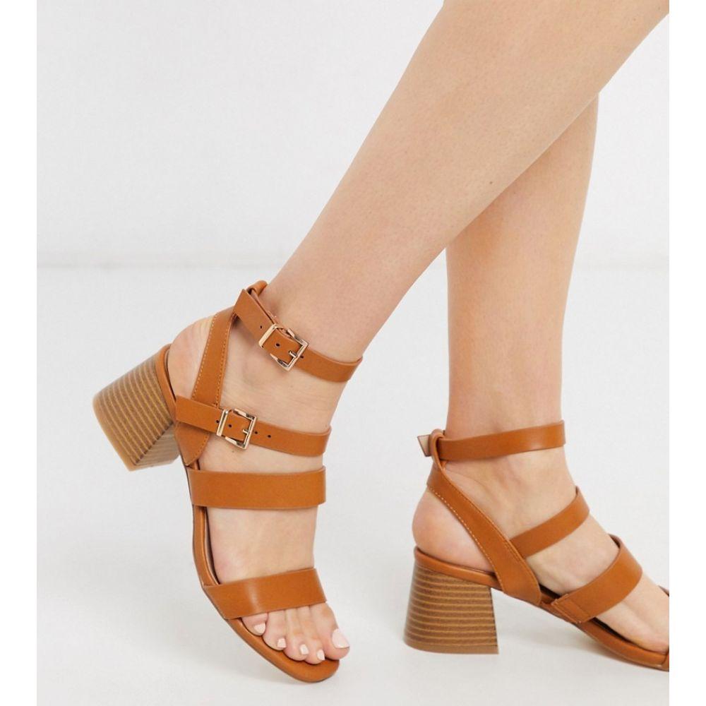 ミス セルフリッジ Miss Selfridge レディース サンダル・ミュール シューズ・靴【strappy heeled sandals in tan】Tan