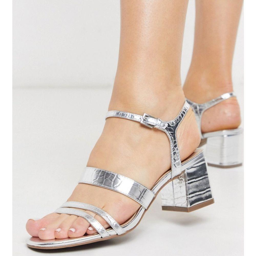 ミス セルフリッジ Miss Selfridge レディース サンダル・ミュール シューズ・靴【strappy heeled sandals in silver】Silver