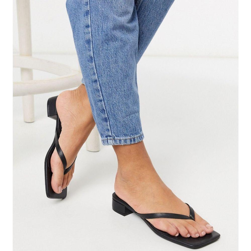 モンキ Monki レディース サンダル・ミュール トングサンダル シューズ・靴【Lovisa low heel thong sandal in black】Black