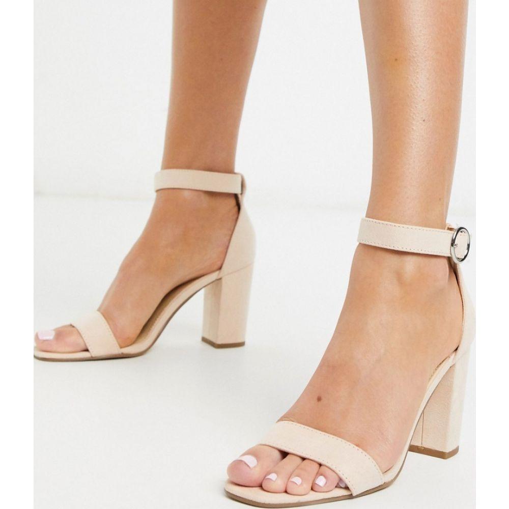 ピンキー Pimkie レディース サンダル・ミュール シューズ・靴【block heeled sandals in nude】Pink