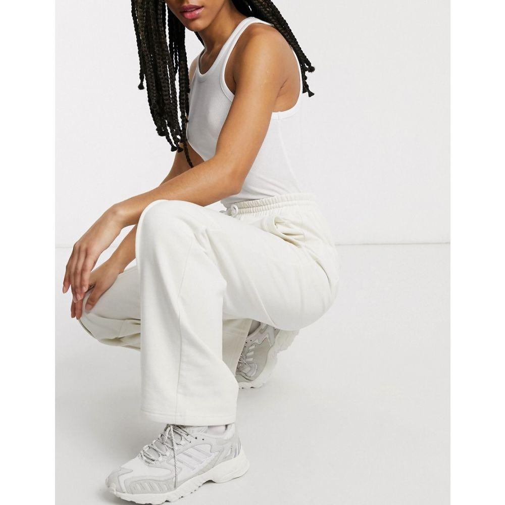 ダムソンマダー Damson Madder レディース ボトムス・パンツ 【straight leg relaxed trousers with front seam & logo detail in recycled poly cotton】Cream